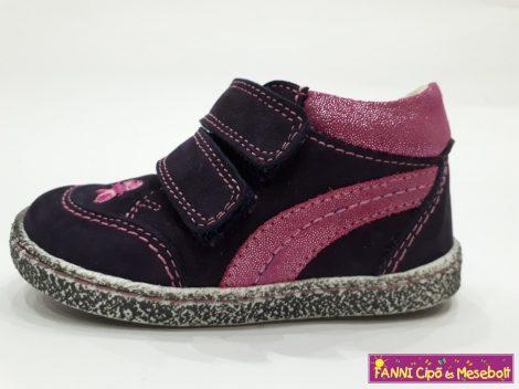 Szamos lány első lépés gyerekcipő 17-24 lila-pink, pillangós
