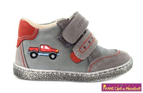 Szamos első lépés fiú cipő 17-22 szürke/piros autós
