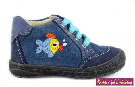 Szamos első lépés fiú cipő 17-22 kék-halacskás