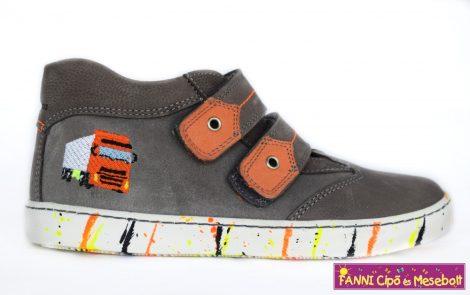 Szamos fiú gyerekcipő 31-35 szürke/narancs kamionos