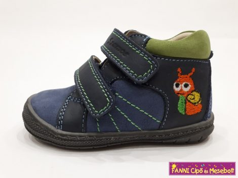 Szamos fiú első lépés gyerekcipő 17-24, kék-zöld, csigás