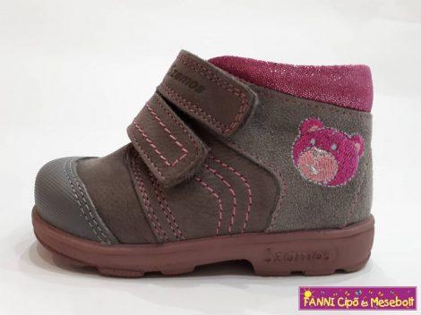 Szamos lány szupinált gyerekcipő 18-24, szürke-pink macis