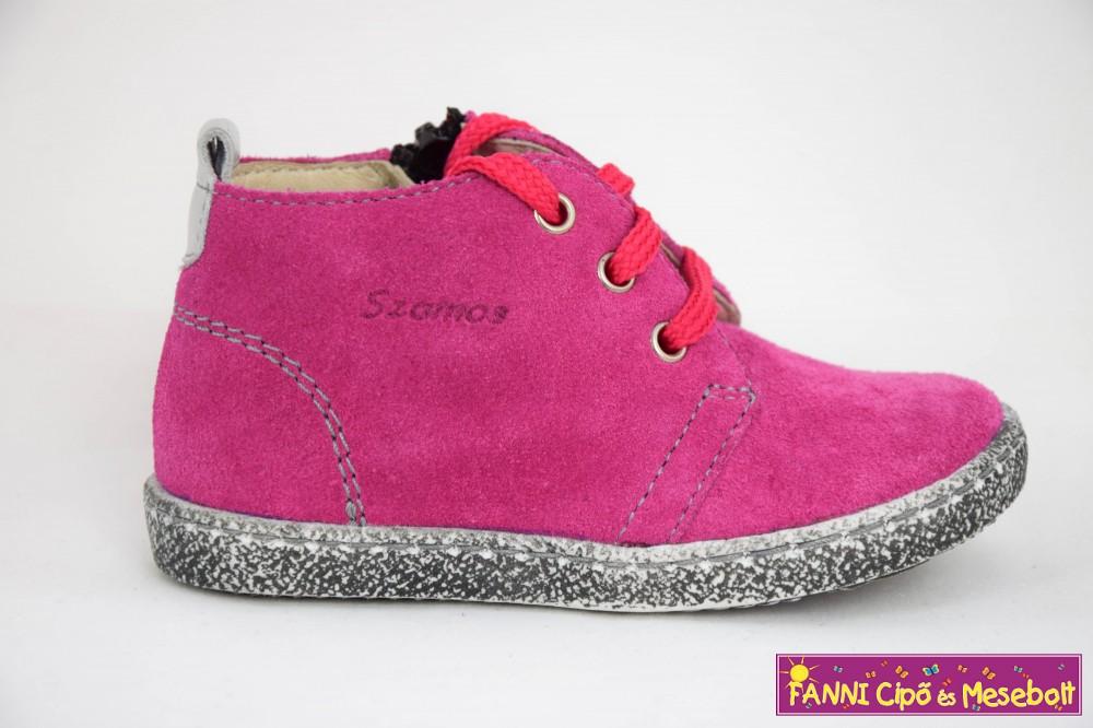 Szamos lány gyerekcipő 19 24 pink fűzős, cippzáros