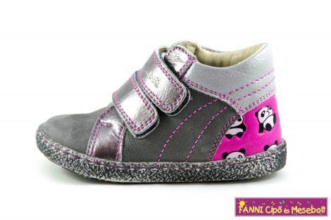 Szamos lány első lépés gyerekcipő 17-24, szürke-pink-pandás