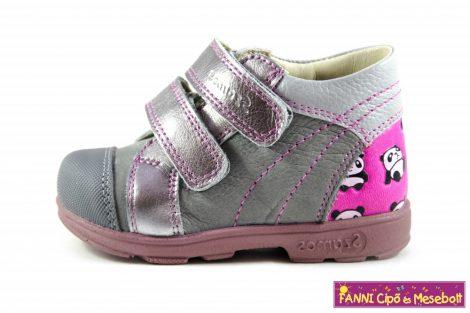 Szamos lány szupinált gyerekcipő 18-24 szürke-pink-pandás