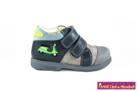 Szamos fiú szupinált gyerekcipő 20-24 szürke-kék-zöld robogós