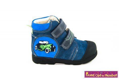 Szamos fiú szupinált gyerekcipő 19-24 kék-zöld autós
