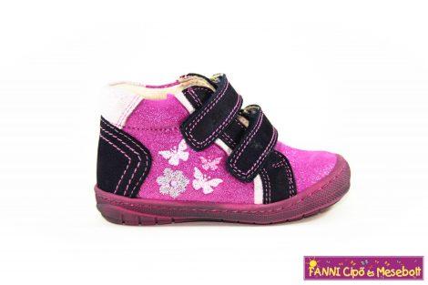 Szamos lány első lépés gyerekcipő 19-24 lila-pink pillangós   21-ES UTOLSÓ PÁR
