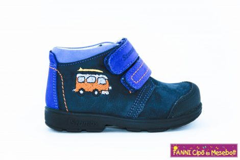 Szamos fiú szupinált gyerekcipő 19-24 s.kék-kisbuszos