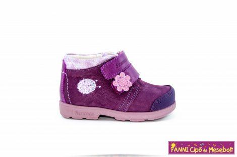 Szamos lány szupinált gyerekcipő 19-24 lila-pink katicás