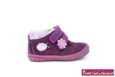 Szamos lány első lépés gyerekcipő 19-24 lila-pink katicás