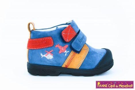 Szamos fiú szupinált gyerekcipő 19-24 kék-barna-piros repülős