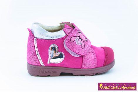Szamos lány szupinált gyerekcipő 19-24 pink-ezüst macis szives