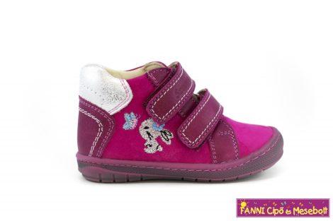 Szamos lány első lépés gyerekcipő 19-24 pink-ezüst nyuszis  19-ES UTOLSÓ PÁR