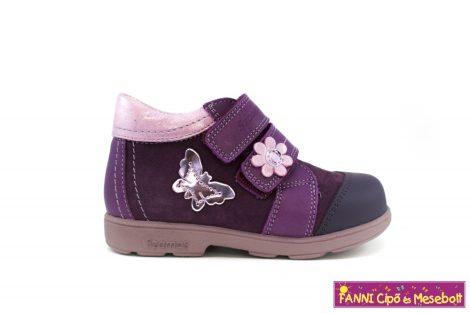 Szamos lány szupinált gyerekcipő 31-35 lila-pillangós