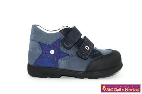 Szamos fiú szupinált gyerekcipő 20-24 s.kék-v.kék-csillagos