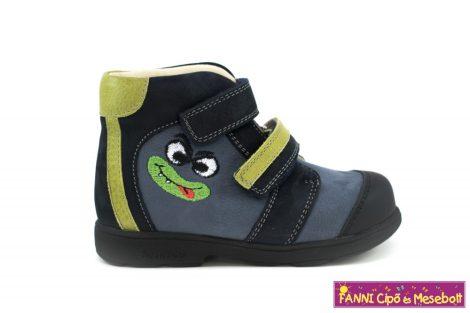 Szamos fiú szupinált gyerekcipő 20-24 kék-zöld mintás