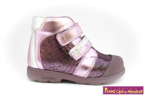 Szamos lány szupinált gyerekcipő 25-30 pink-ezüst mintás