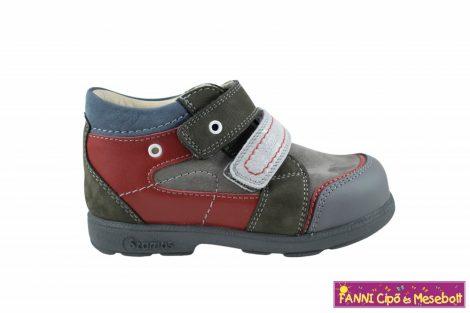 Szamos fiú szupinált gyerekcipő 25-30 antracit-szürke-piros-kék