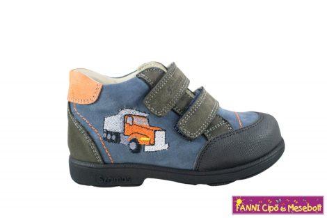 Szamos fiú szupinált gyerekcipő 25-30 antracit-kék-narancs teherautós