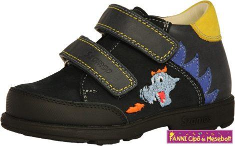 Szamos fiú szupinált gyerekcipő 19-24 kék-sárga sárkányos