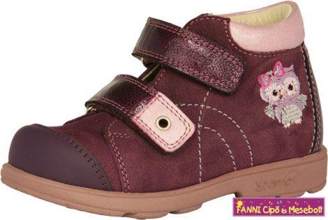 Szamos lány szupinált gyerekcipő 25-30  lila-pink baglyos