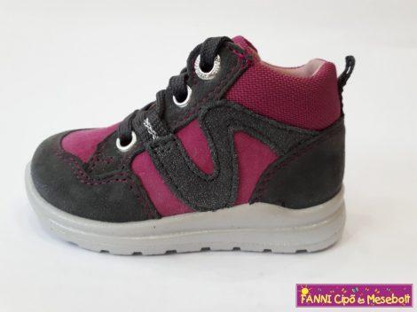 Superfit lány zárt cipő 19-28 szürke-rózsaszín fűzős