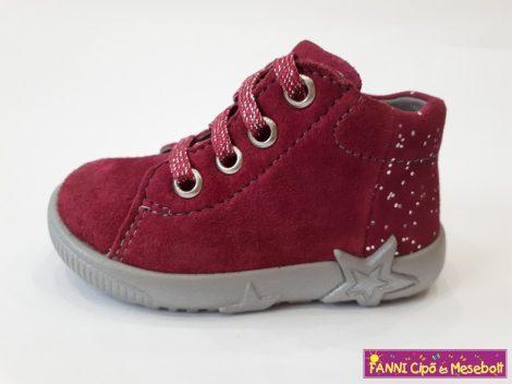 Superfit lány zárt cipő 19-26 bordó fűzős