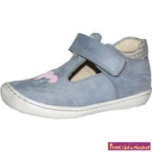 Szamos lány felvezetőpántos szandálcipő  25-30 kék/ezüst