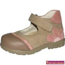 Szamos lány szupinált  szandálcipő/balerinacipő 19-24 beige/rózsa