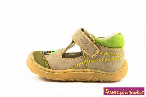 Szamos fiú szandálcipő 17-24 beige-zöld vonatos