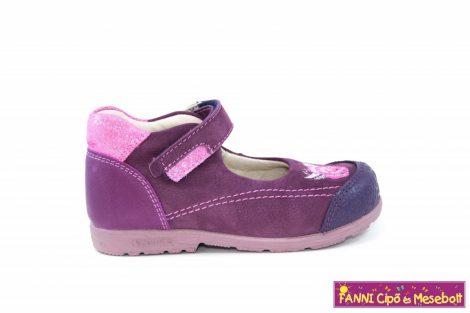 Szamos lány szupinált szandálcipő/balerinacipő 31-35 lila-pink rózsás