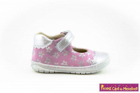 Szamos lány szandálcipő/balerinacipő 19-24 pink-ezüst-virágos
