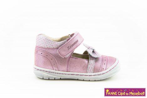 Szamos lány szandálcipő/balerinacipő 19-24 mályva-masnis