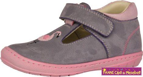 Szamos lány szandálcipő 20-24 lila-pink flamingós