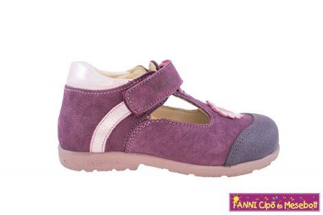Szamos lány szupinált szandálcipő/balerinacipő 31-35 lila-pink virágos
