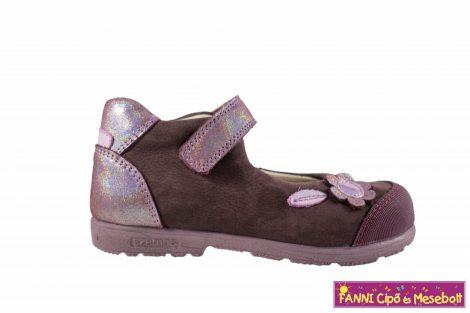 Szamos lány szupinált szandálcipő/balerinacipő 25-30 bordó-pink virágos