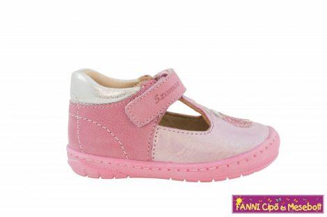 Szamos lány szandálcipő/balerinacipő 19-24 pink-ezüst katicás