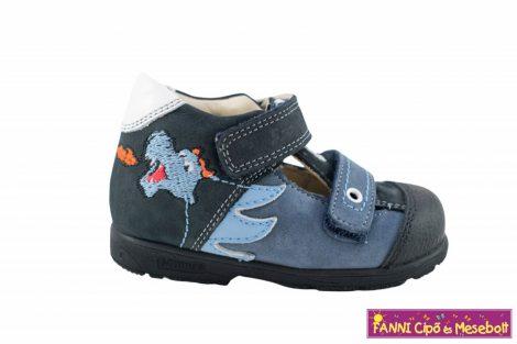 Szamos fiú szupinált szandálcipő 19-24 kék-fehér sárkányos