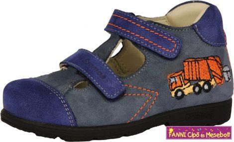 Szamos fiú szupinált szandálcipő 25-30 kék kukásautós
