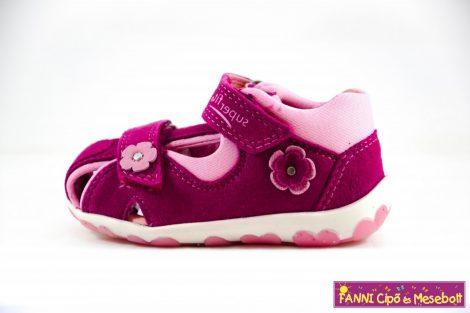 Superfit lány zárt orrú szandál 18-28 FANNI-s.rózsaszín-v.rózsaszín virágos