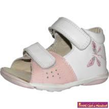 Szamos lány első lépés szandál 17-22 fehér/rózsaszín