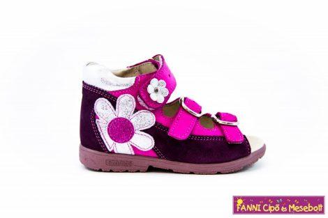 Szamos lány szupinált szandál 31-35 bordó-pink virágos