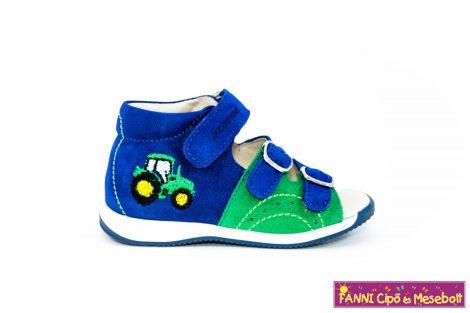 Szamos fiú első lépés szandál 17-24 kék-zöld-traktoros