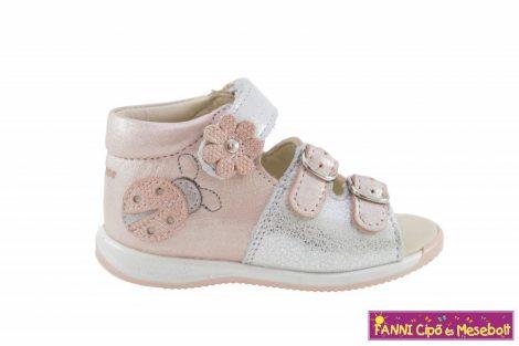 Szamos lány első lépés szandál 17-24 rózsaszín-ezüst katicás