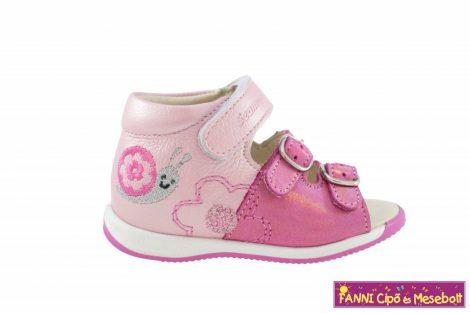 Szamos lány első lépés szandál 19-24 pink-rózsaszín csigabigás