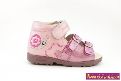 Szamos lány szupinált szandál 19-24 pink-rózsaszín csigabigás