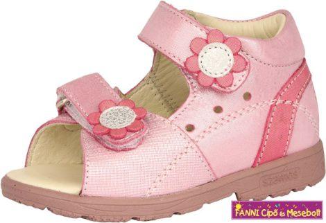 Szamos lány szupinált szandál 18-24 pink virágos