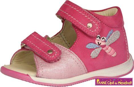 Szamos lány első lépés szandál  17-24 pink szitakötős