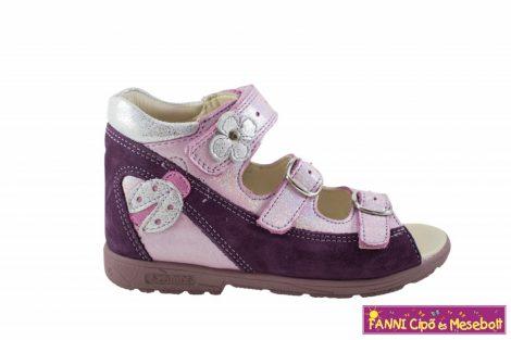 Szamos lány szupinált szandál 31-35 lila-pink katicás